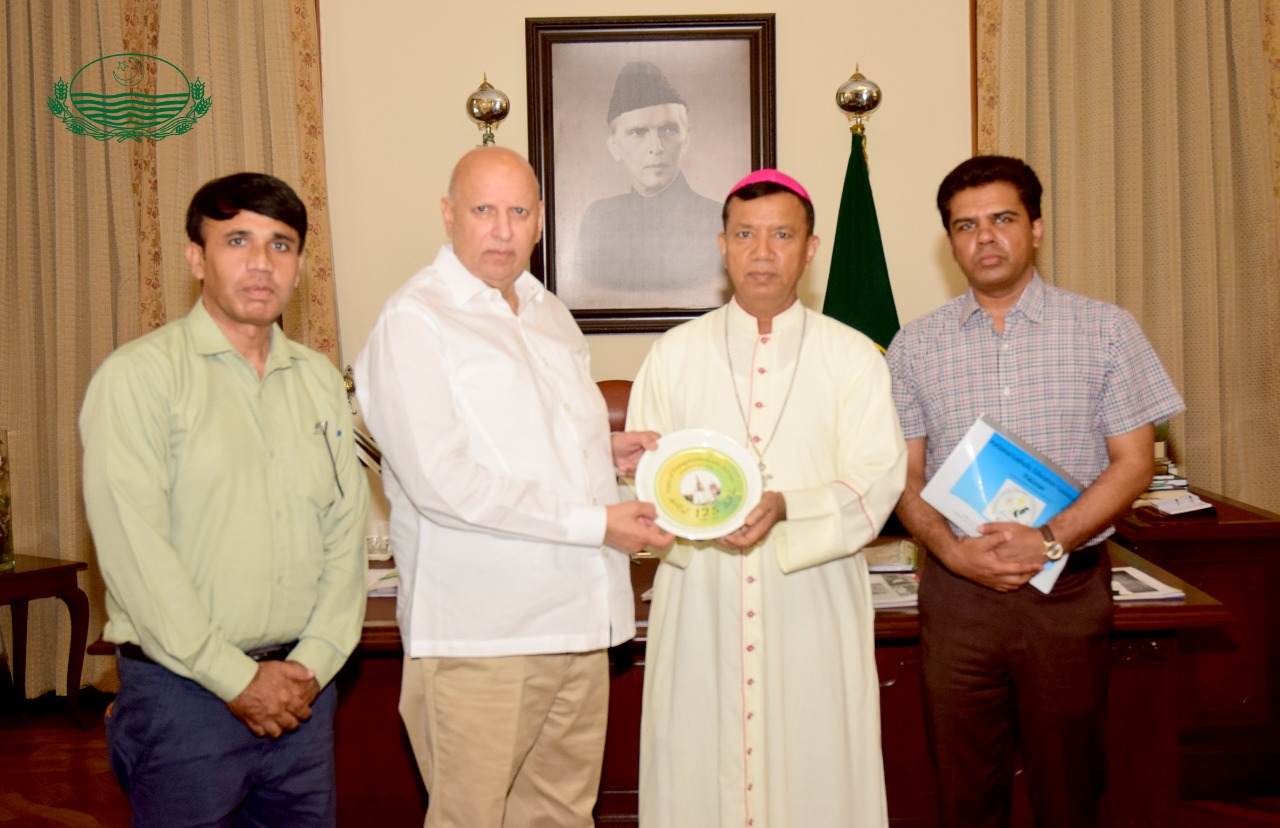 Call on by Archbishop Sebastian Frances Shaw.Archbishop of Lahore